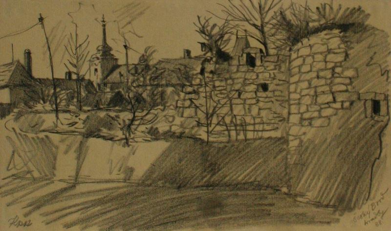 Jan Prokůpek, Český Brod 1938, hradby